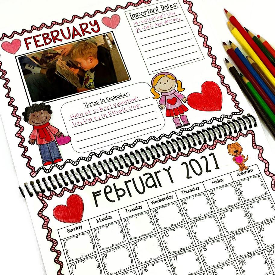 student made calendar