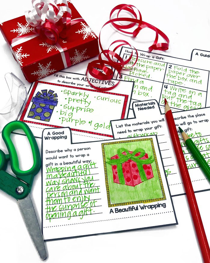 Explaining opinions is a great skill to practice with these Christmas writing mini books.