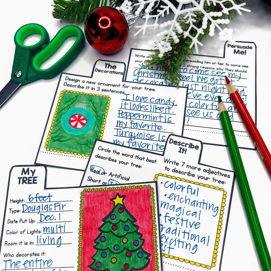 Chrsitmas writing activities that help with descriptive writing