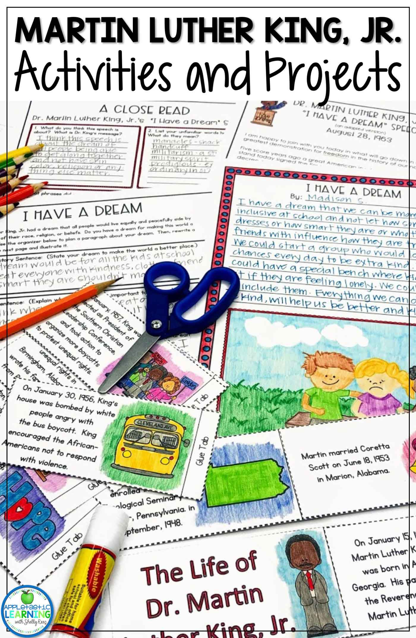 Activities for teaching about Martin Luther King Jr.