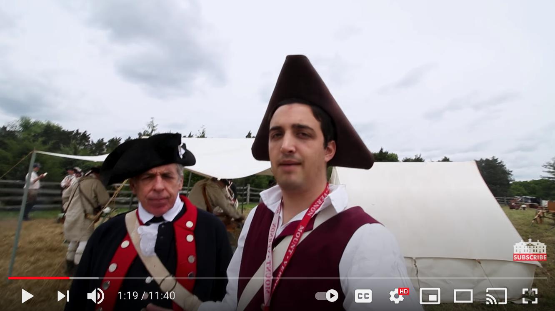 Revolutionary War Weekend Video Part 1