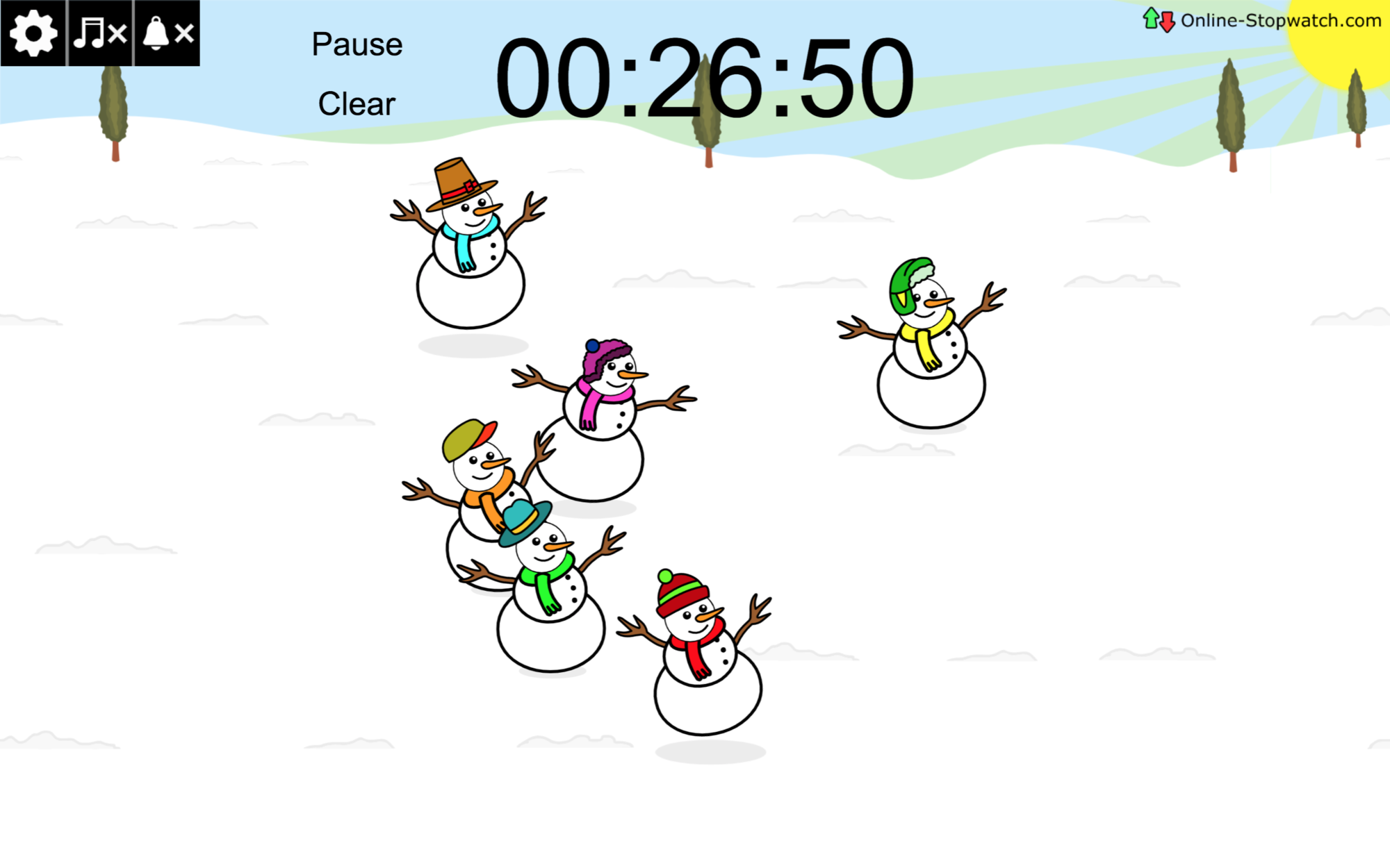 project a countdown timer for the escape room activity - this snowman timer fits the winter theme