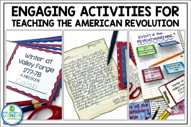 engaging activities to teaching about the american revolution