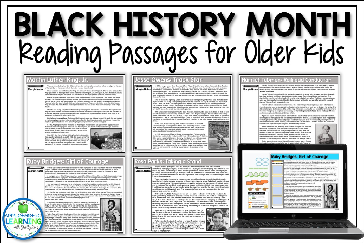 Black History Month Reading Passages Close Reading Activities for Upper Elementary Classrooms