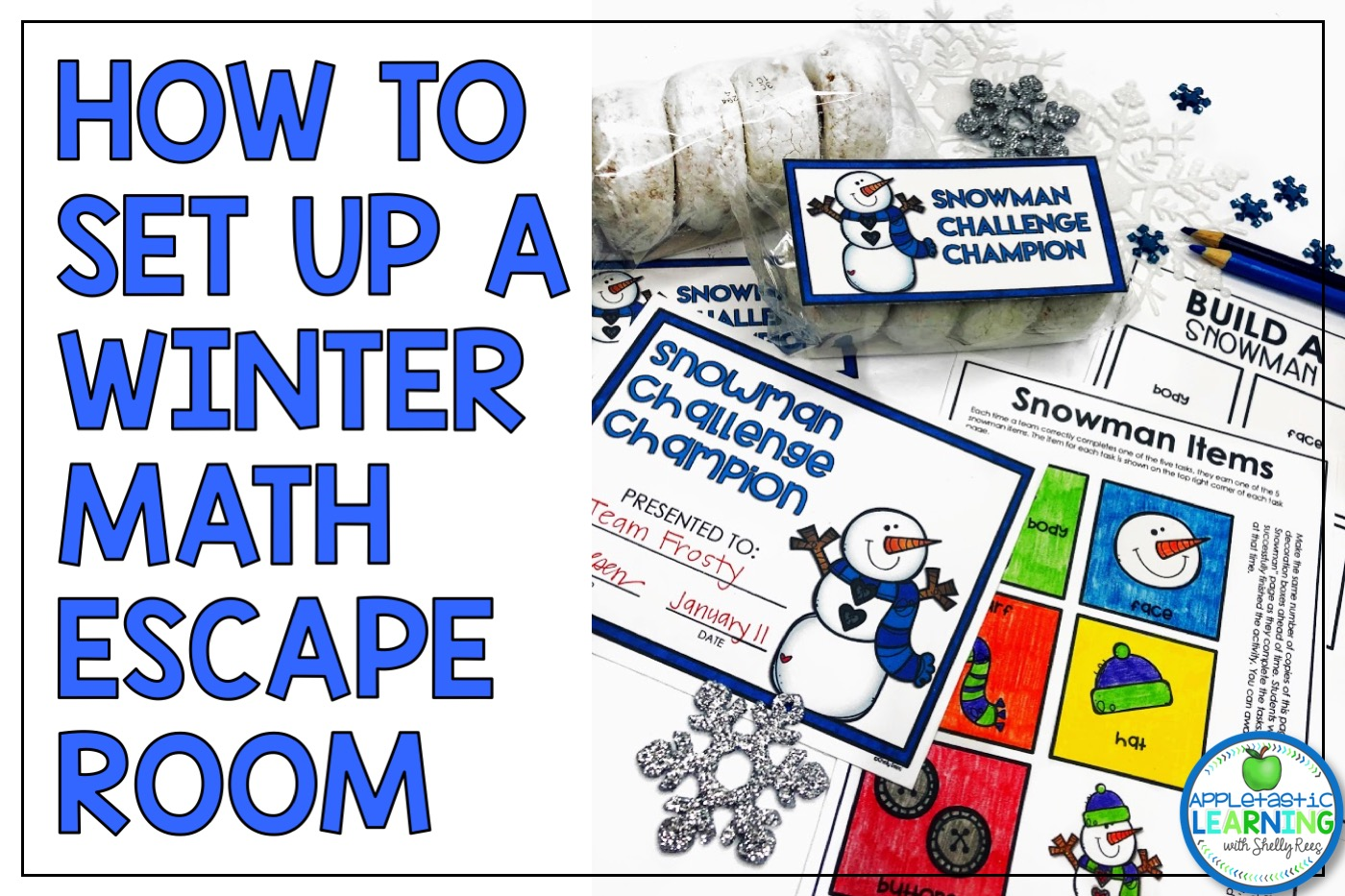 Winter Math Escape Room for 2D Shapes Tips and Ideas