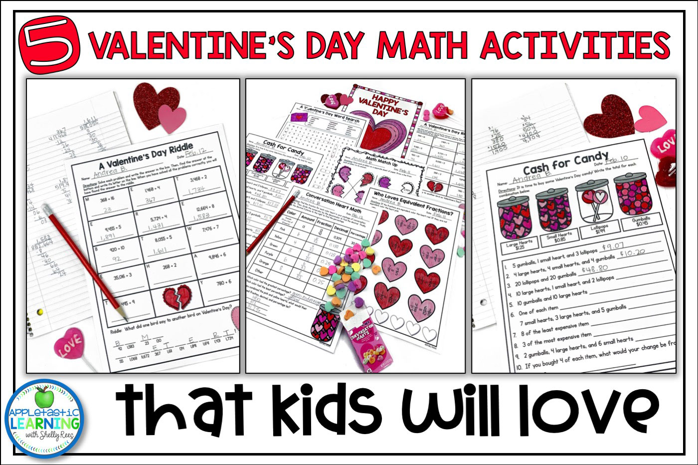 valentine's day math activities for upper elementary