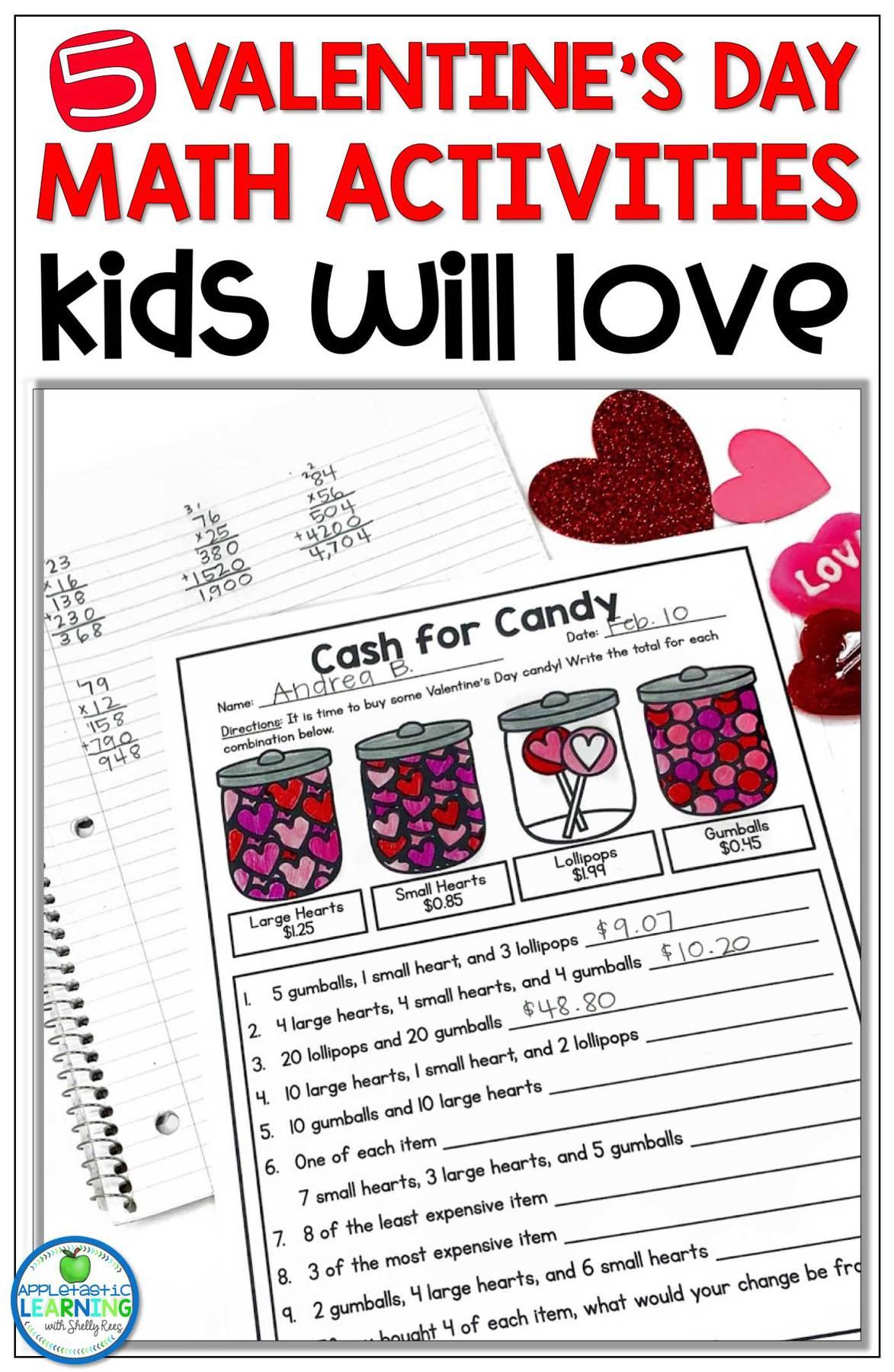 Valentine's Day math activities kids love