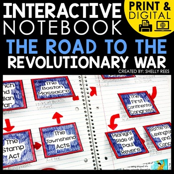 printable and digital interactive notebook american revolution