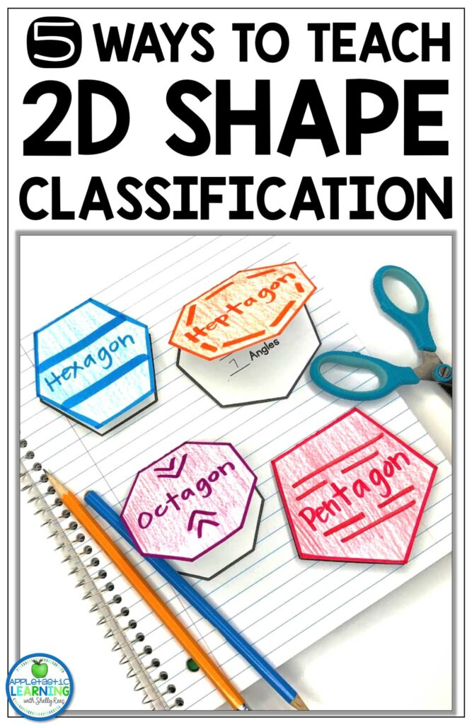 2D shape classification ideas for helping students master classifying shapes by attribute