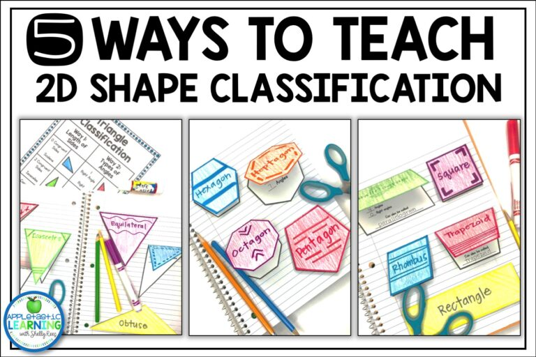 5 ways to teach 2D shape classification