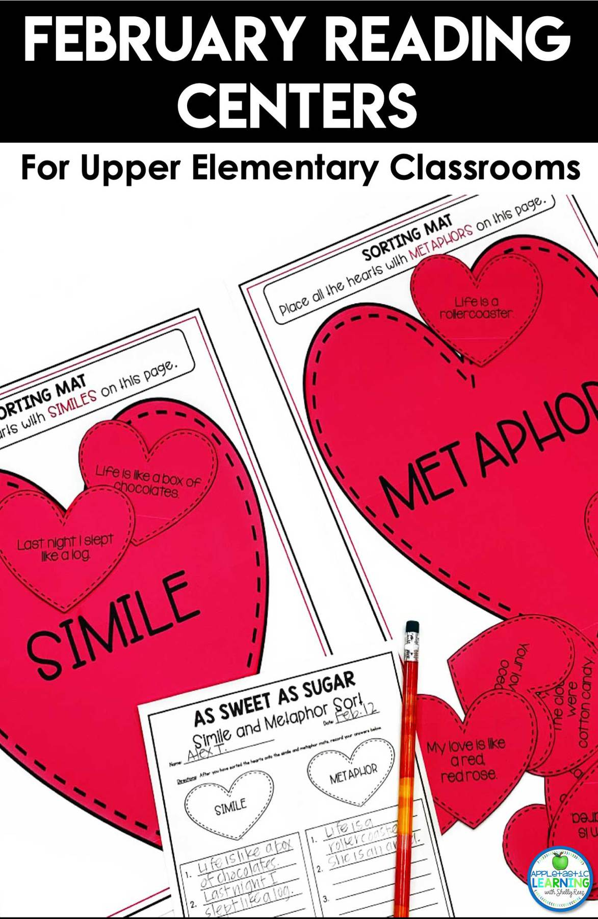 February reading activities for 3rd, 4th and 5th grade students and language arts skills