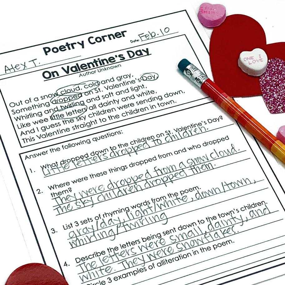 february poetry activity