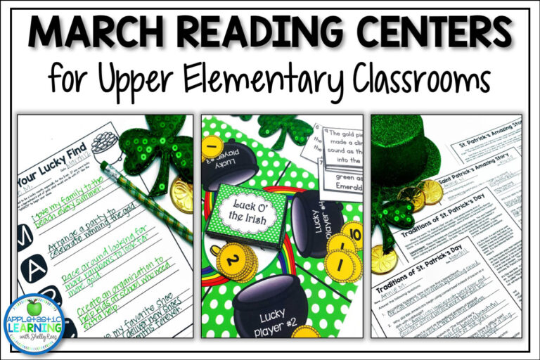 March reading activities for the upper elementary classroom