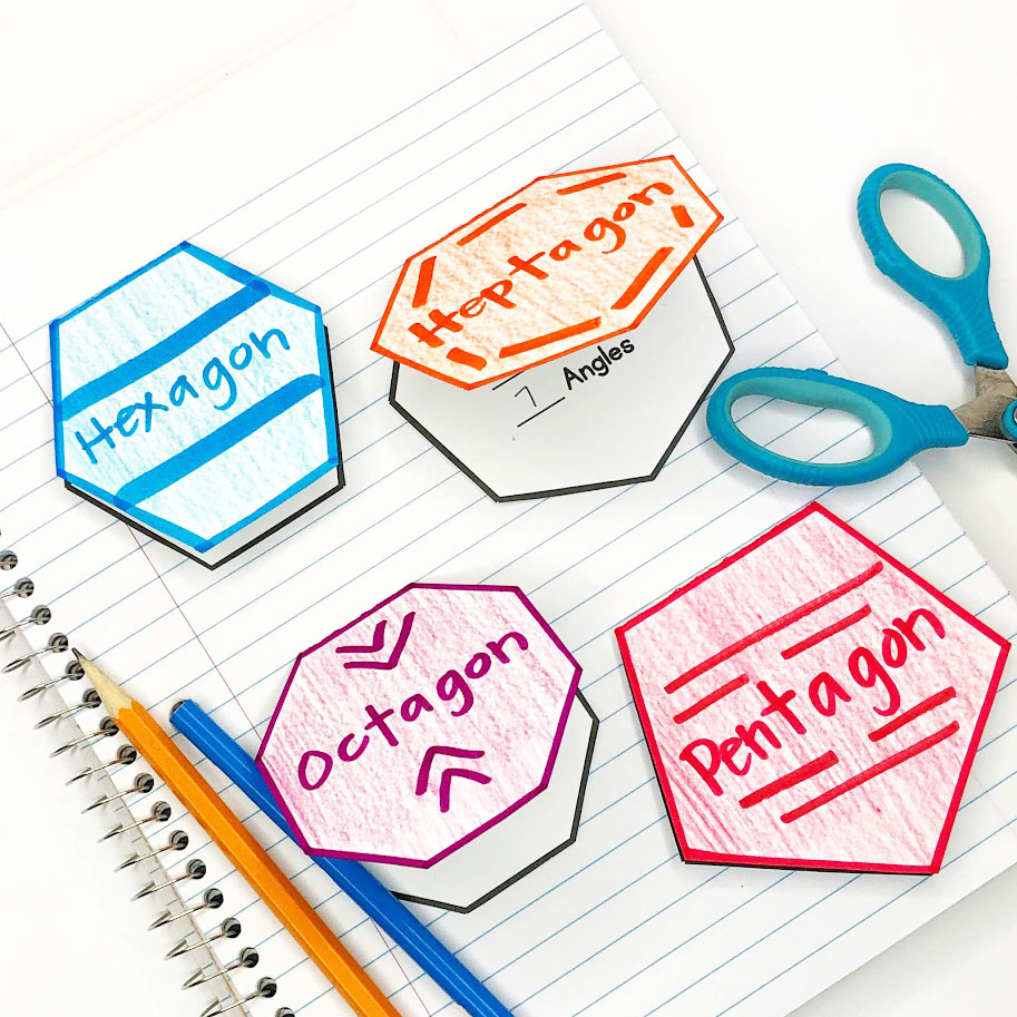 polygon foldables for shape classification