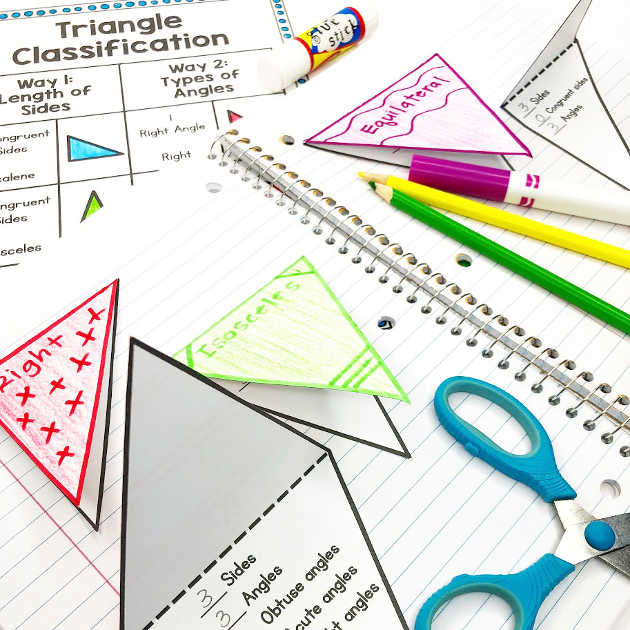 triangle foldables for shape classification
