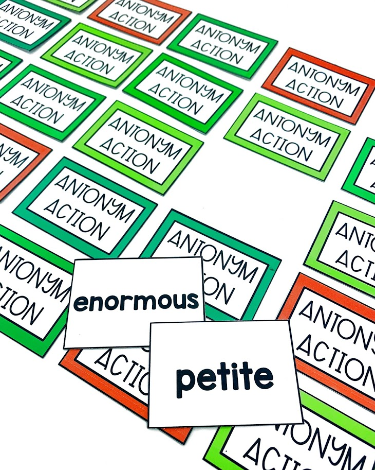 Students will love practicing their antonyms with this antonym board game