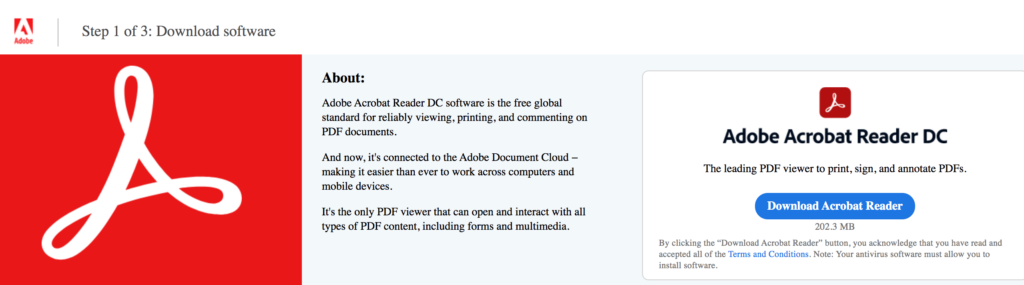 download Adobe Acrobat Reader to print posters from a pdf