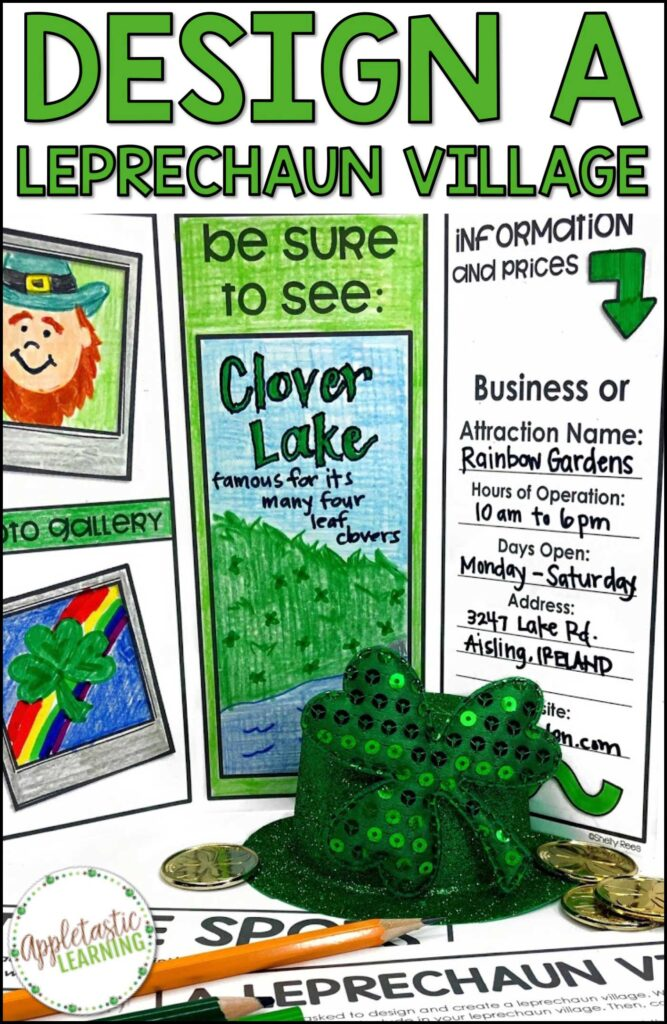 St. Patrick's day project based learning fun for math, reading and writing