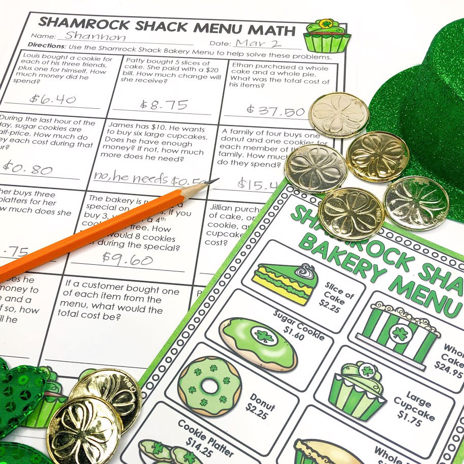 fun math practice with money and word problems