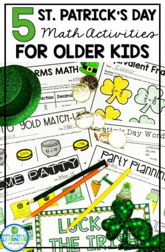 St. Patrick's Day Math Activities for Upper Elementary Kids