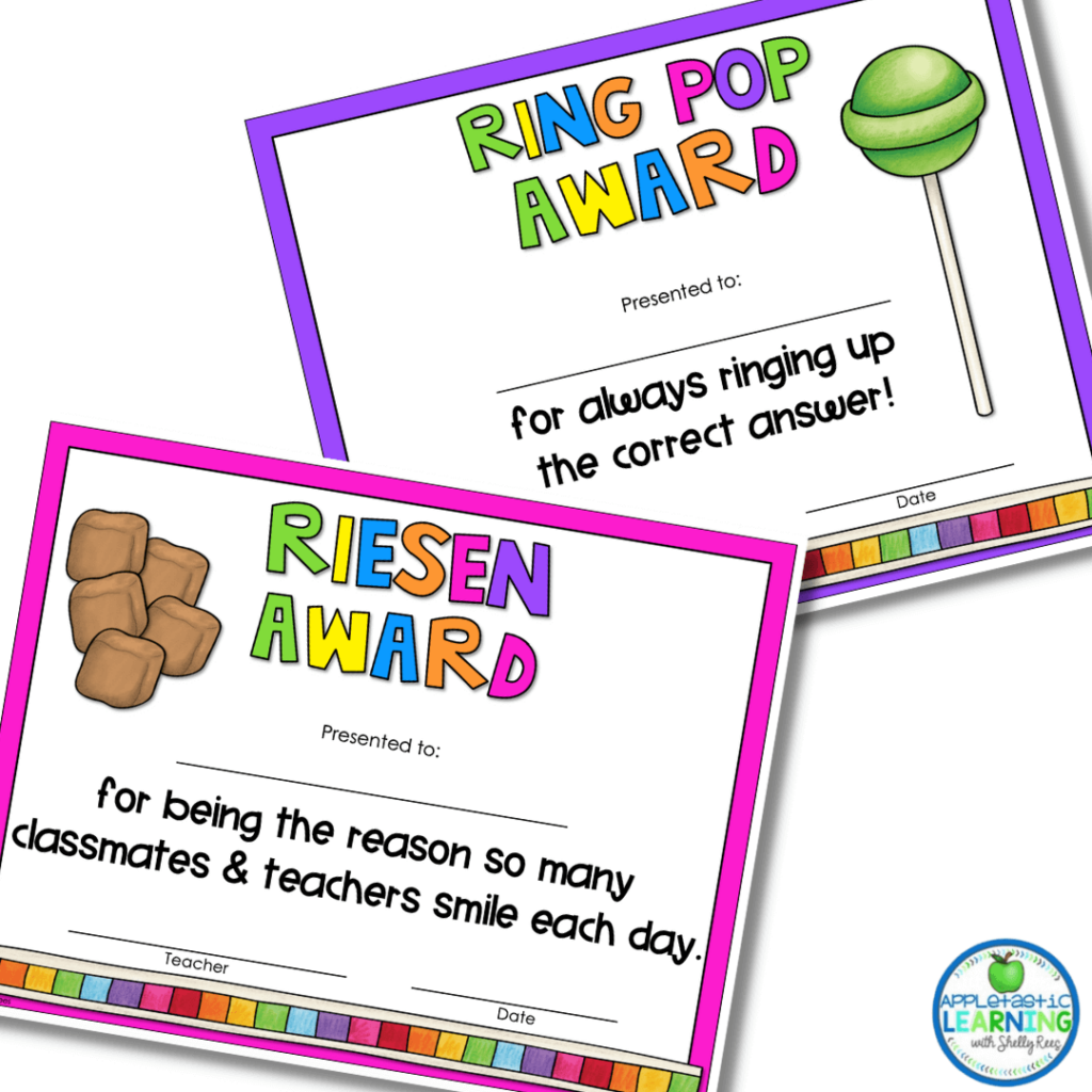 Celebrate your amazing students with these sweet end of the year awards.