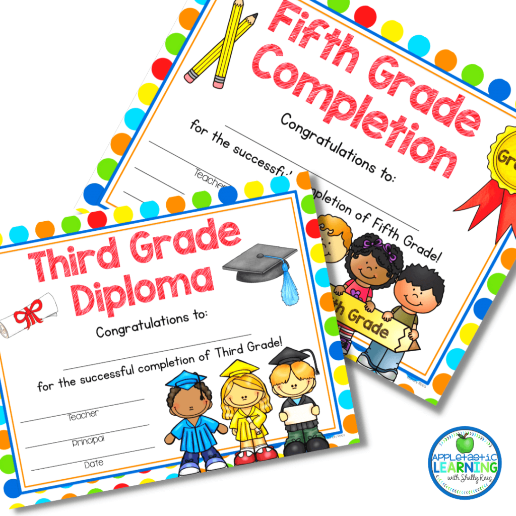 Print out or attach a digital copy for students to celebrate the end of the school year.