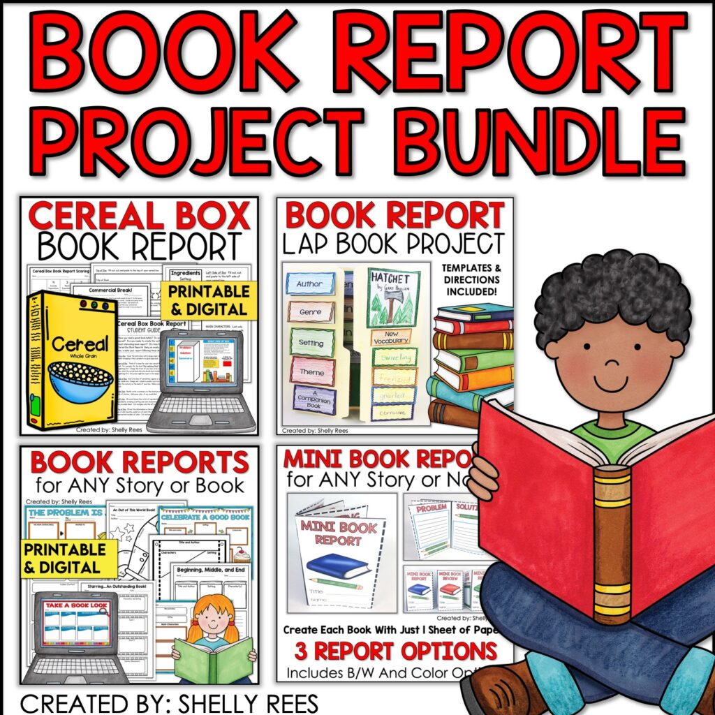 This book report project bundle will have your students begging for book reports with these fun activities.