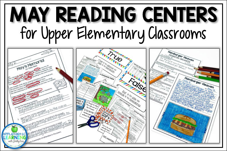 May reading and language arts activities for the upper elementary classroom