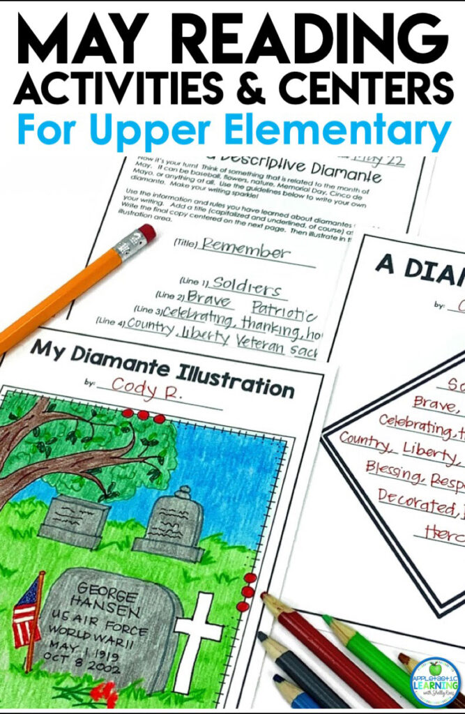 May reading activities and language arts centers for the upper elementary classroom