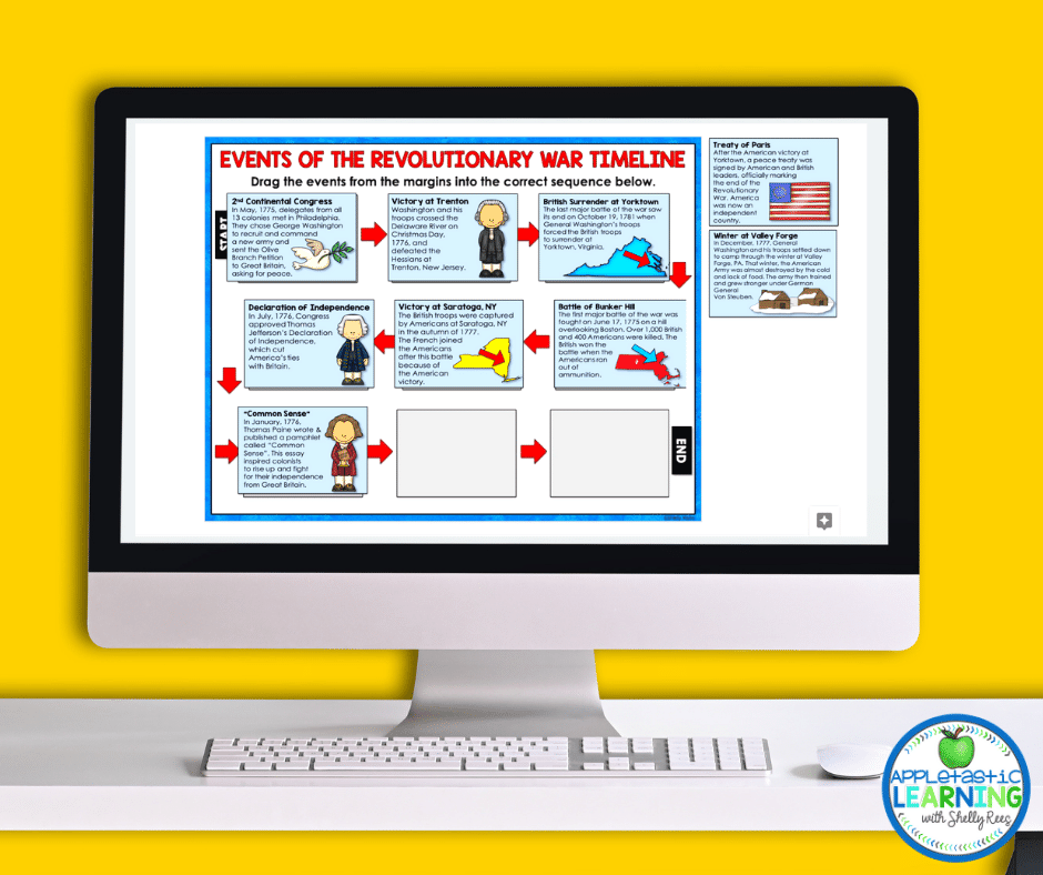 using digital interactive notebooks to create timelines