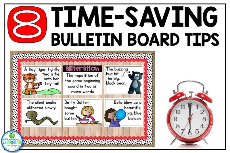 Use these 8 helpful tips and tricks for planning and setting up your bulletin boards.
