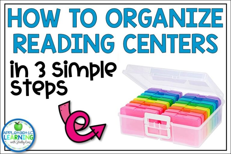 Use these tips and tricks to get your literacy centers organized for the entire year.