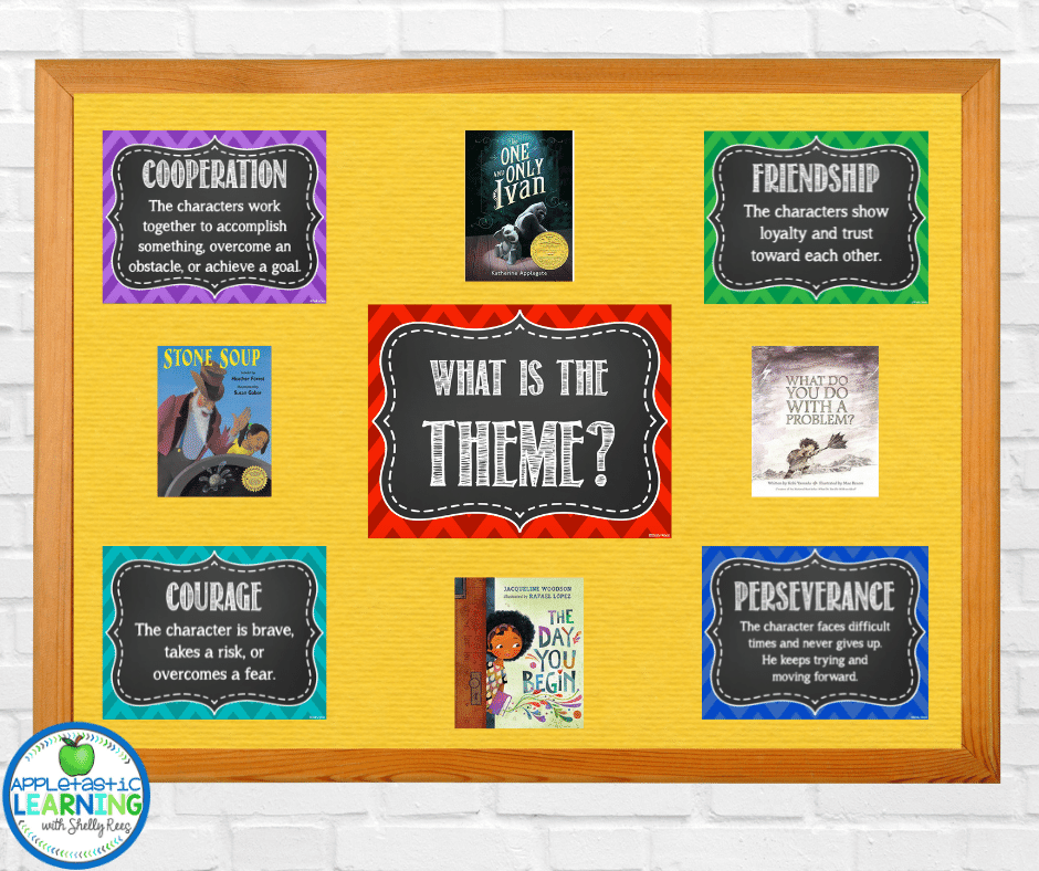 Help students learn and understand theme by creating a theme bulletin board or anchor chart with these ready to print theme posters