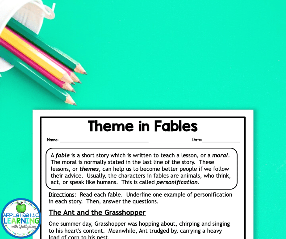 Fables are a great way to introduce the concept of theme