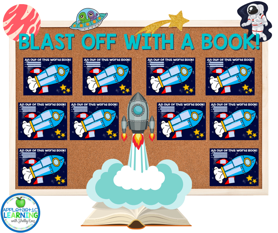 Create an eye catching bulletin board or hallway display with completed story map graphic organizers