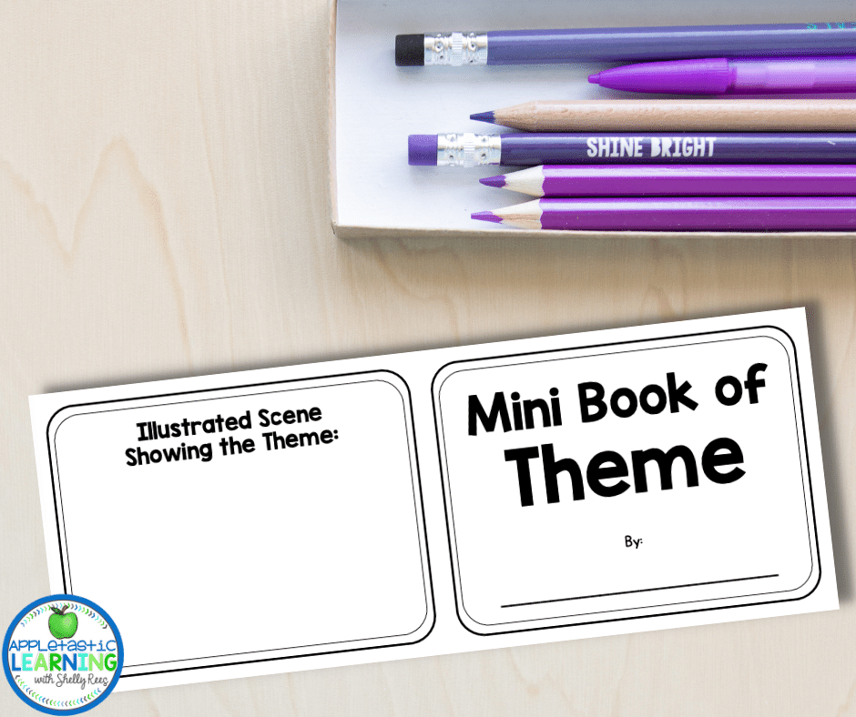 Students can identify the theme, the text evidence and illustrate the theme with this mini book