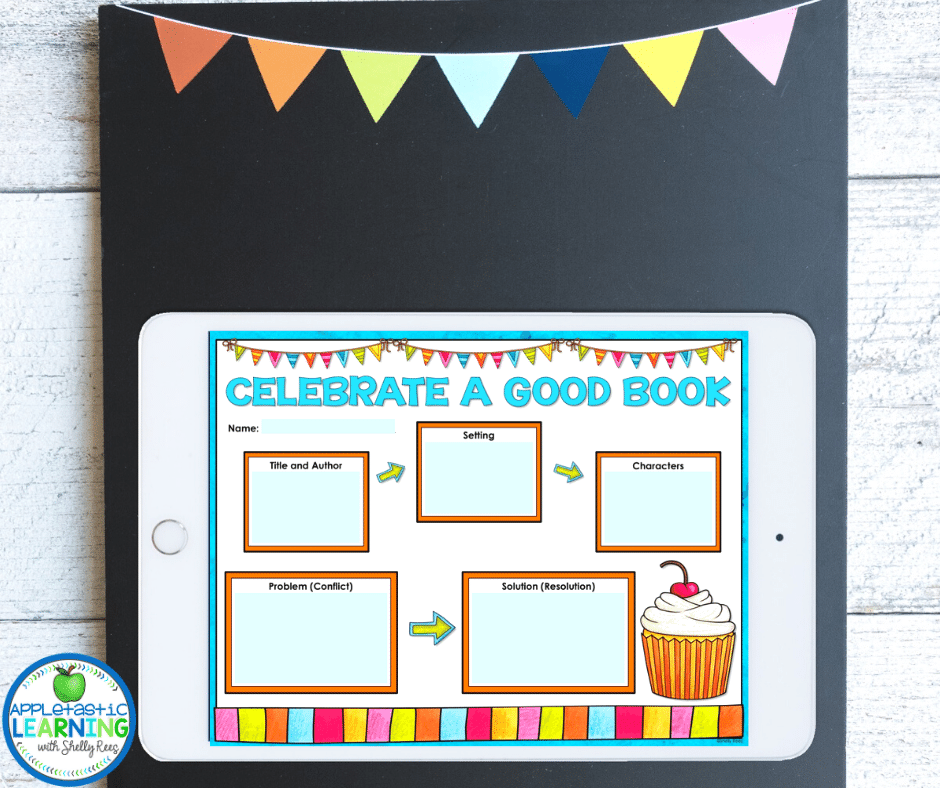 This digital story map graphic organizer is a fun way for students to work on story elements, reading comprehension and typing