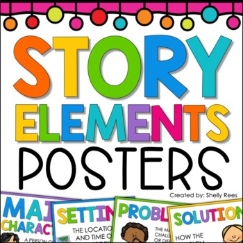 This Story Elements Poster Set is perfect for teaching story elements and literary elements