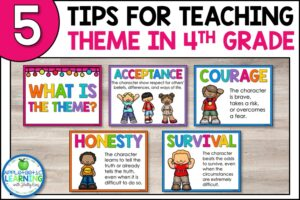 These 5 tips for teaching theme in fourth grade will help you with this hard to grasp reading skill.