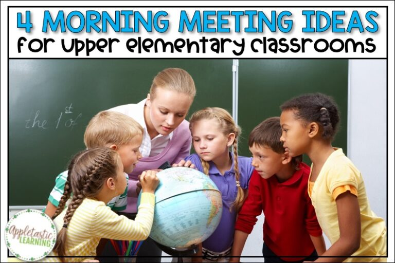 Start your day off on the right foot with these practical and easy to use morning meeting ideas for the upper elementary classroom.