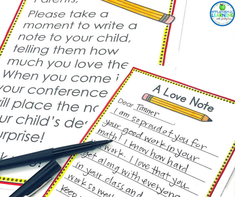 this extra special love note not only connects parents with the classroom but also shows students that parents and teachers are on the same side