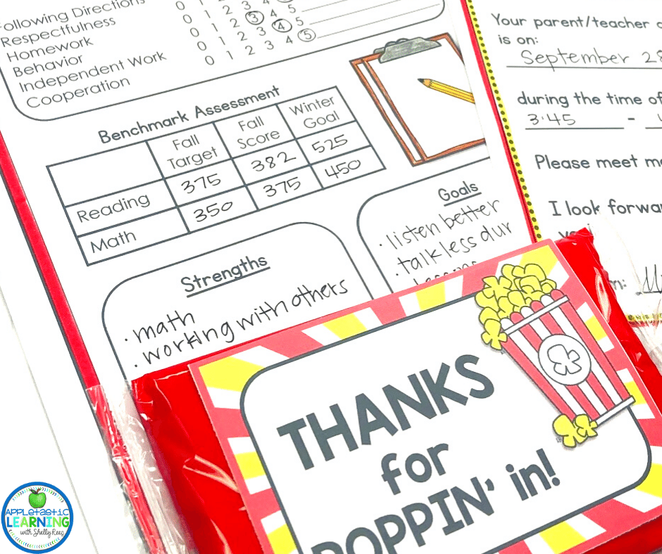 A fun and inexpensive thank you lets parents know that you value the time you have with them.